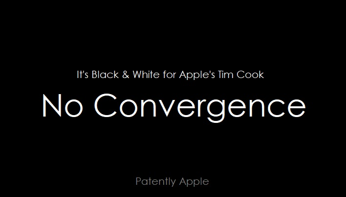 Apple's CEO Brushes Off the Notion of Platform Convergence