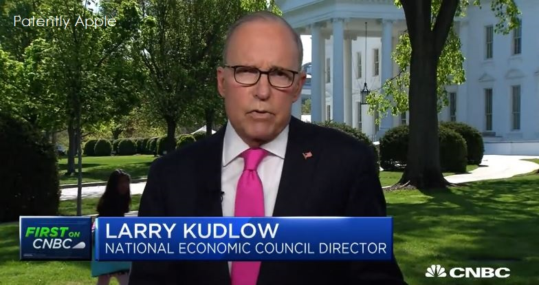 1 X cover Larry Kudlow on Apple meeting