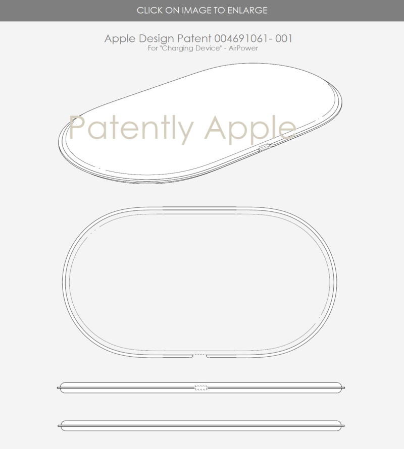 2 Apple EU design patent for AirPower charging pad