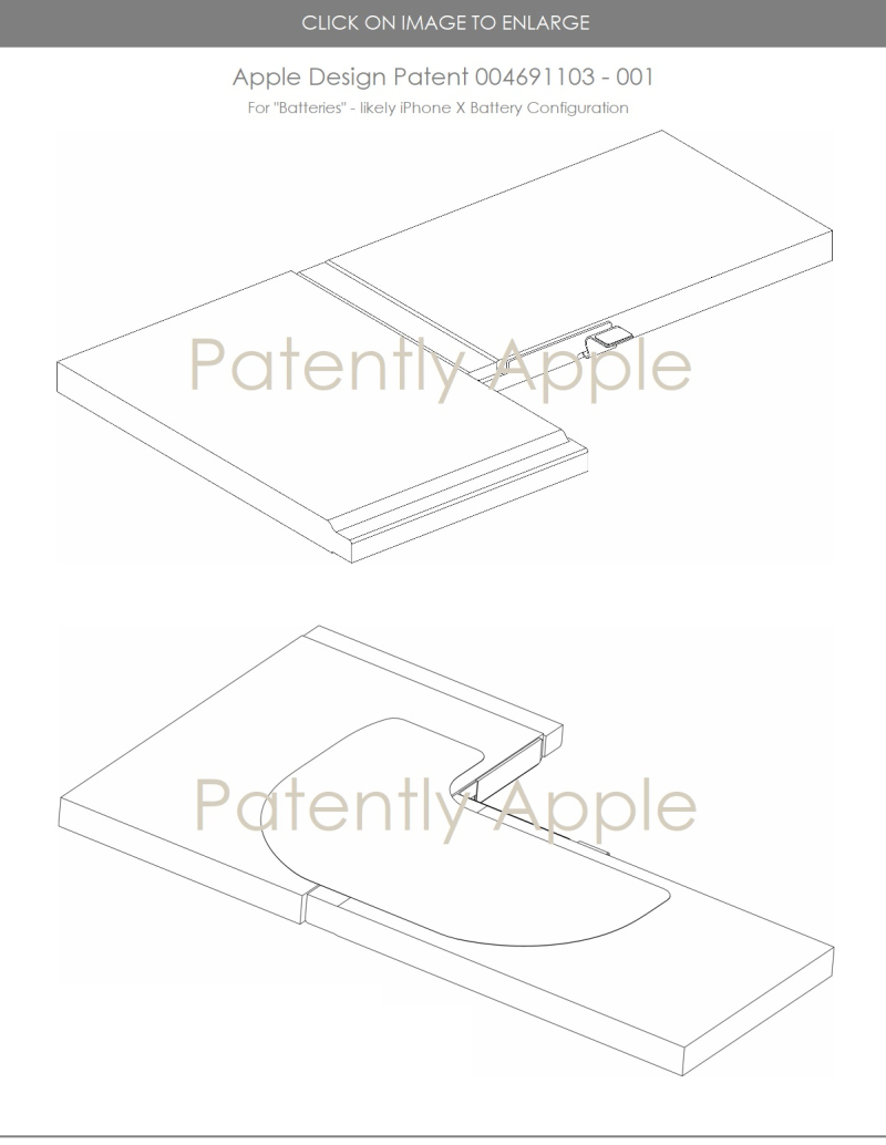 4x  iPhone battery eu granted patent  patently apple report may 2018