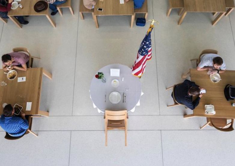 2 Apple Park Campus  Memorial table set