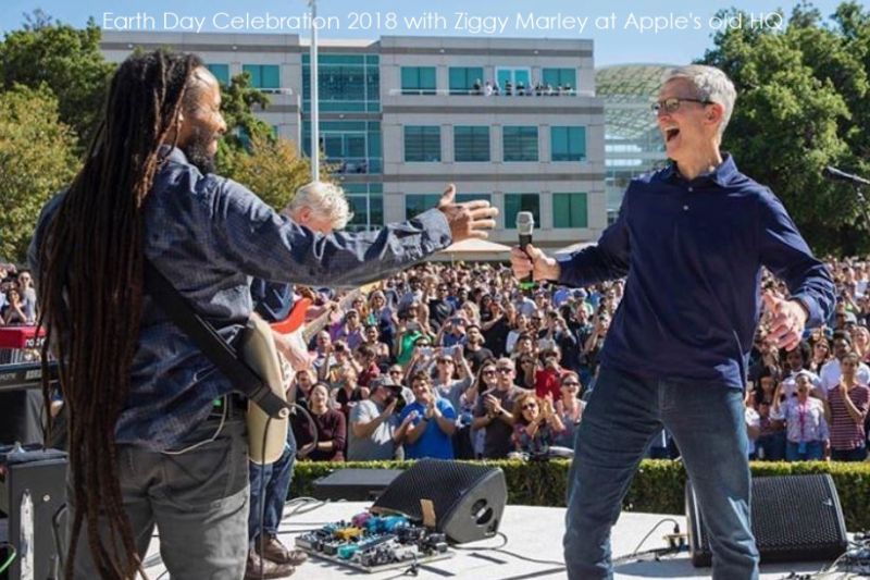 1 X cover ziggy Marley  Tim cook earth day bash 2018