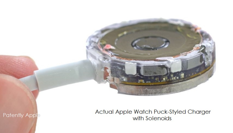 3 inside the charging puck for Apple watch