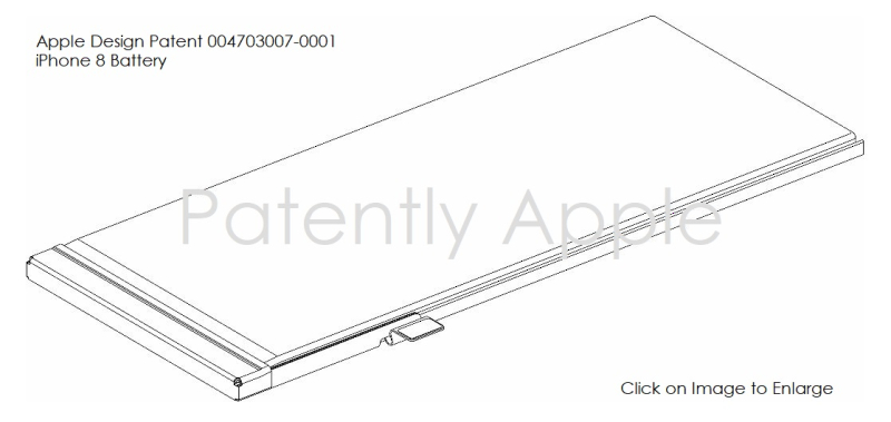5 IPHONE 8 BATTERY DESIGN PATENT EU
