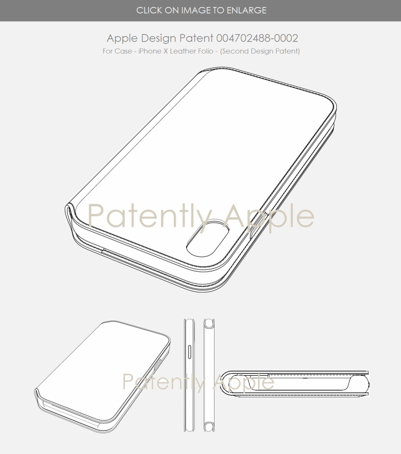 7 APPLE DESIGN PATENT EU - SECOND DESIGN FOR LEATHER FOLIO IPHONE X CASE - PATENTLY APPLE REPORT MAY 2018