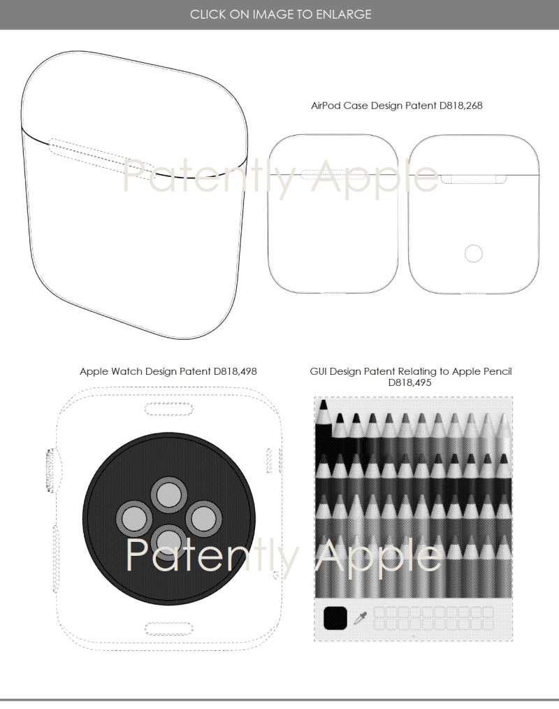 5 design patents may 22  2018 apple  patently apple report