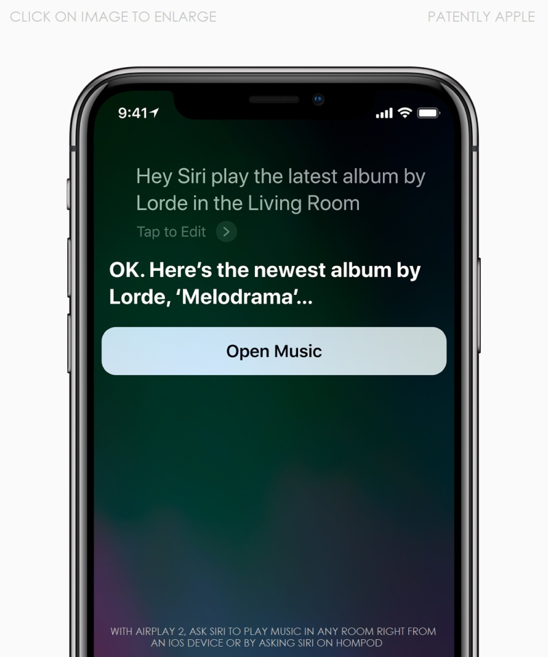 5 - iPhone X Siri HomePod screen