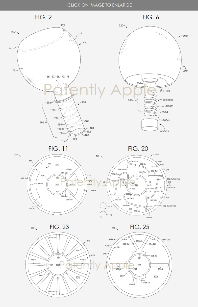 3 Apple wins patent for earbuds with internal support components