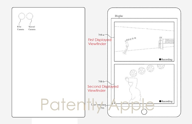 photo image Apple invents a way to Split Record a Video in Wide Angle and Zoom Simultaneously using a Dual Lens iDevice Camera