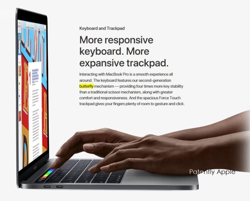 3 X MacBook Pro with 2nd gen keyboard wth butterfly mechanism