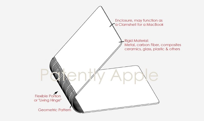 1 X cover patent apple flexible interlocking segments for notebook
