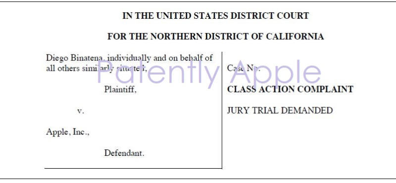 2 X class action filed in california june 2  2018 against Apple