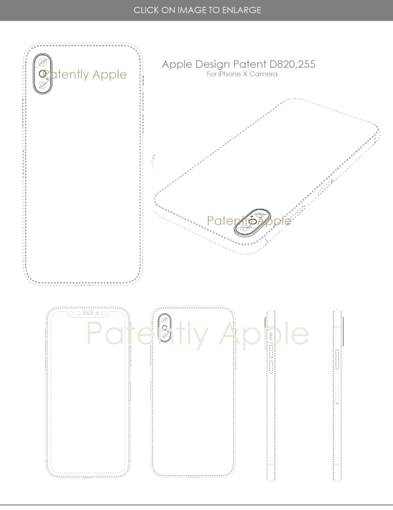 4 DESIGN PATENT IPHONE X BACKSIDE CAMERA