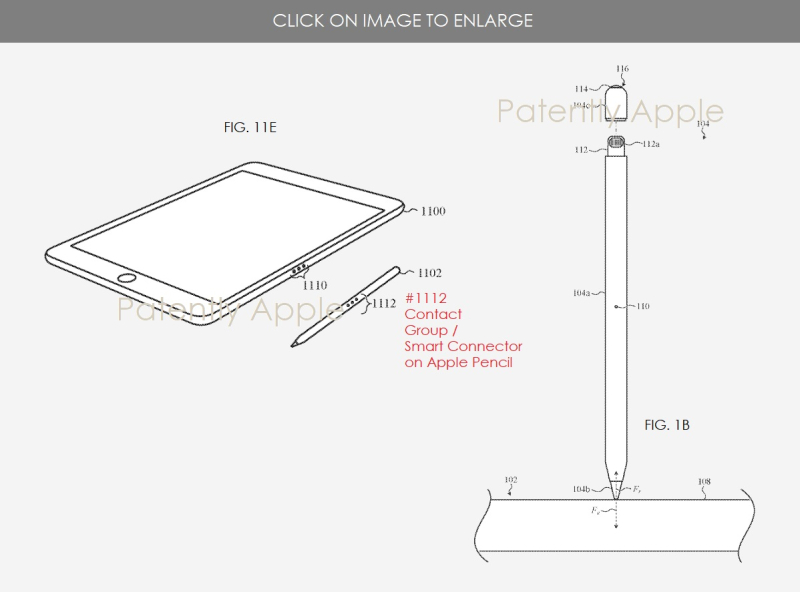 3 Apple Pencil granted patent + illustration of smart connector on Apple Pencil