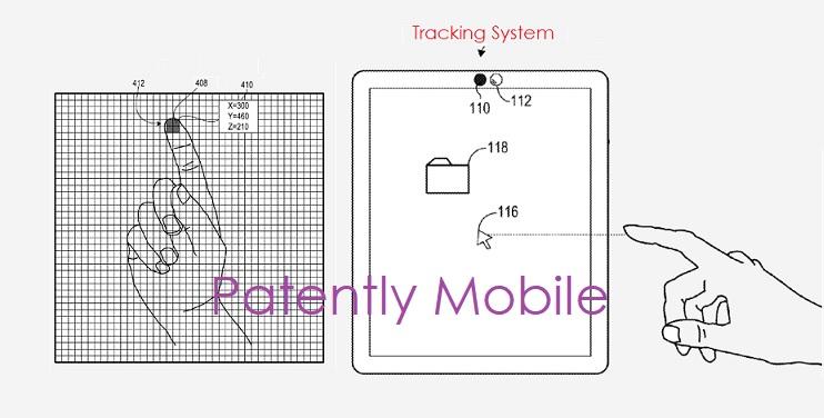 1 X microsoft touchless input patent