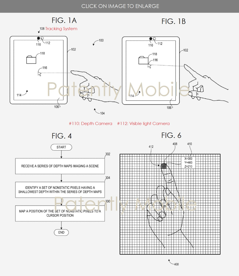 2 X MSFT PATENT FOR TOUCHLESS INPUT