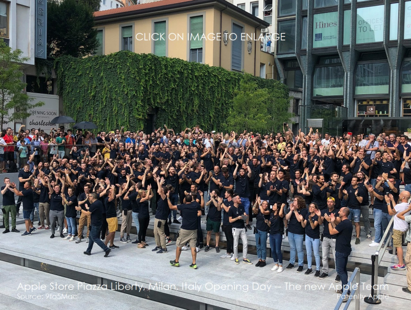 3 X Apple store italy  milan  new Apple Team  opening day group photo July 26  2018