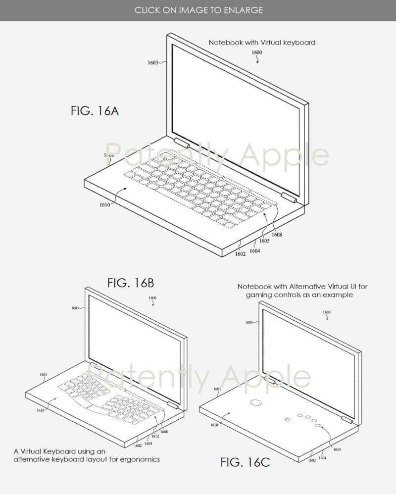 3 X Apple patent Virtual Keyboard patent