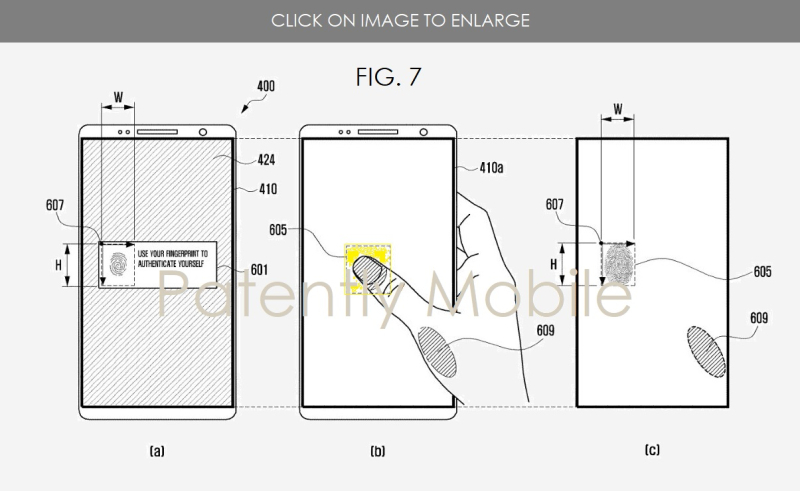 5 X SAMSUNG FINGERPRINT SENSOR UNDER DISPLAY PATENT FILING