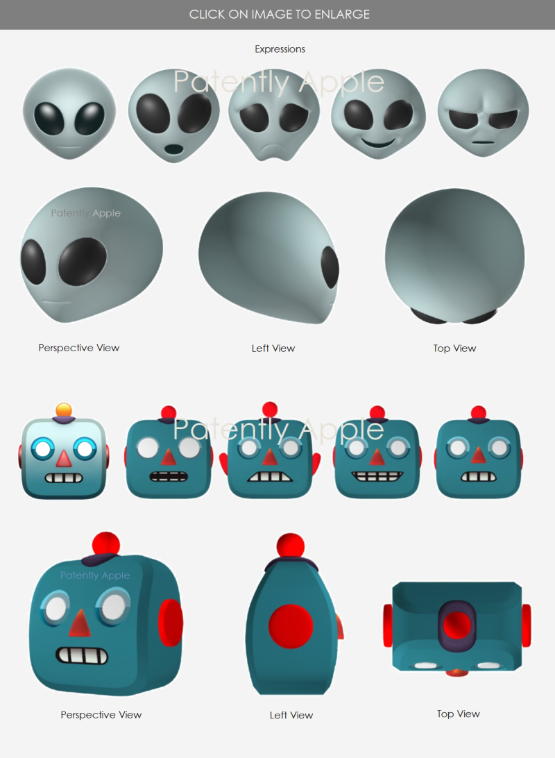 2 Animoji's Apple  Alien  Robot