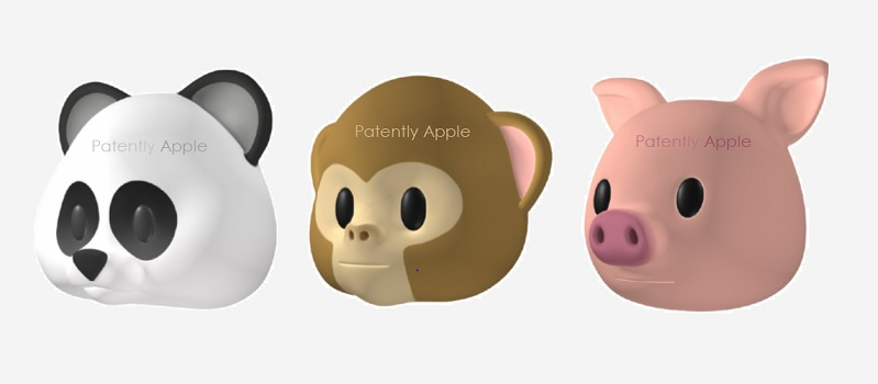 1 X Cover animoji  panda  monkey & Pig