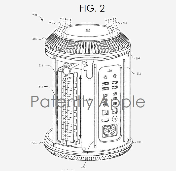 2 X apple patent on mac pro thermals