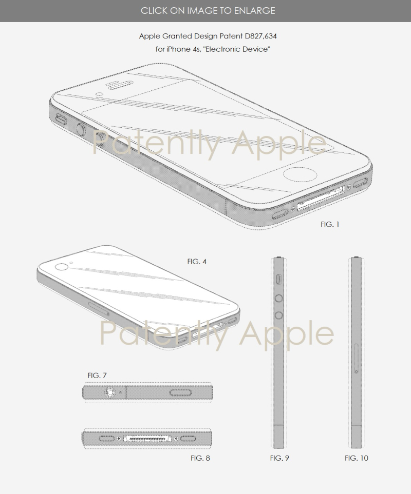 3 X iphone 4s design win for Apple  sept 4  2018  patently apple reports