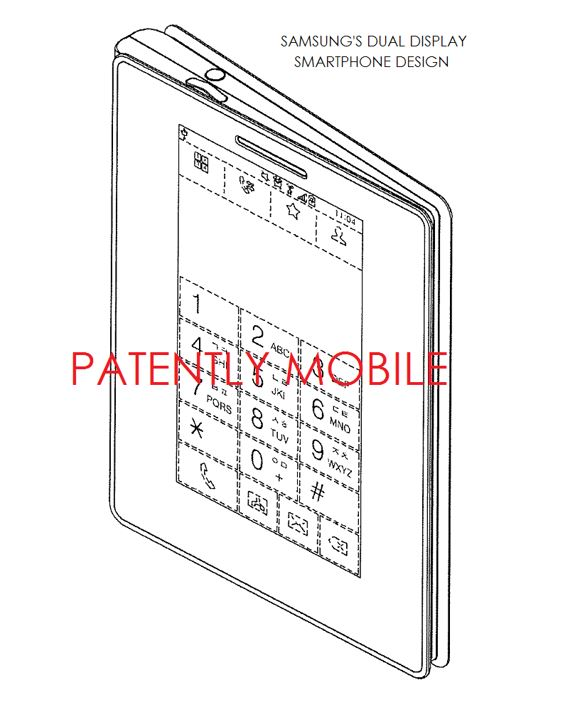 2 samsung folding smarphone with third display on front