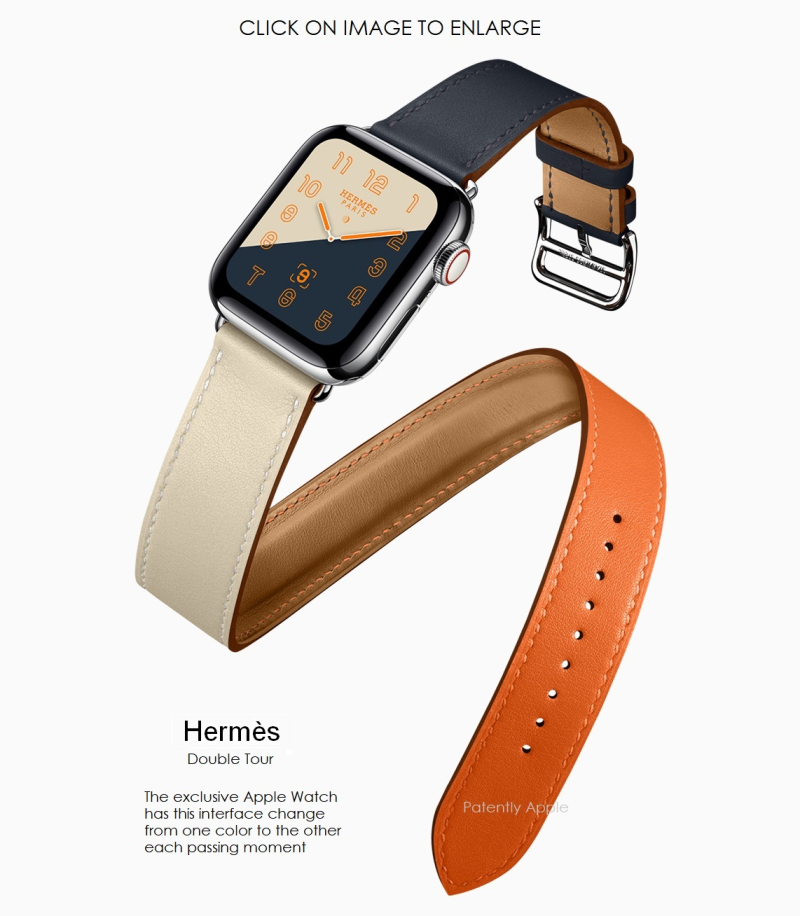 6 X Apple-Watch Series4 Hermes double tour