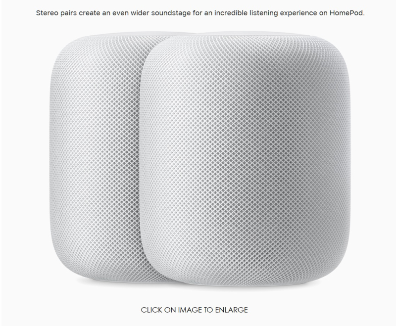 4 Apple HomePod 2up white