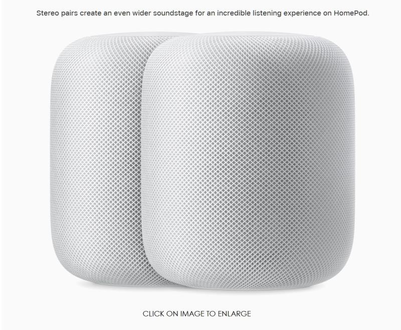 4 Apple HomePod 2up white