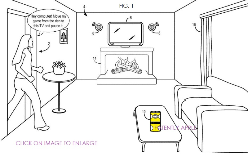 1 x cover x msft smart speaker patent fig. 1
