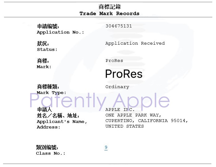 2 APPLE PRO RES HONG KONG FILING IN-PART