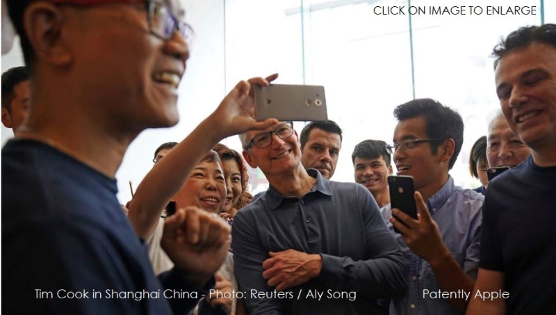 1 x COVER Apple's CEO in Shanghai China oct 9  2018