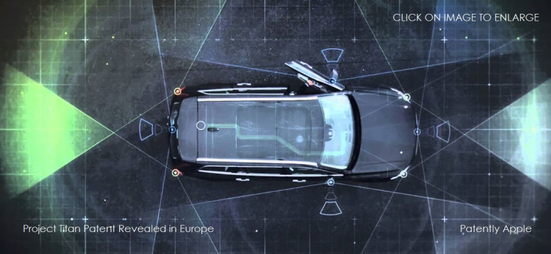 1 X Cover Project Titan  Autonomous Vehicles patent