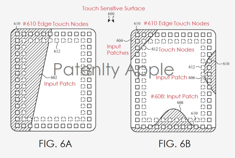 2 apple patent figures for Finger tracking in wet environment