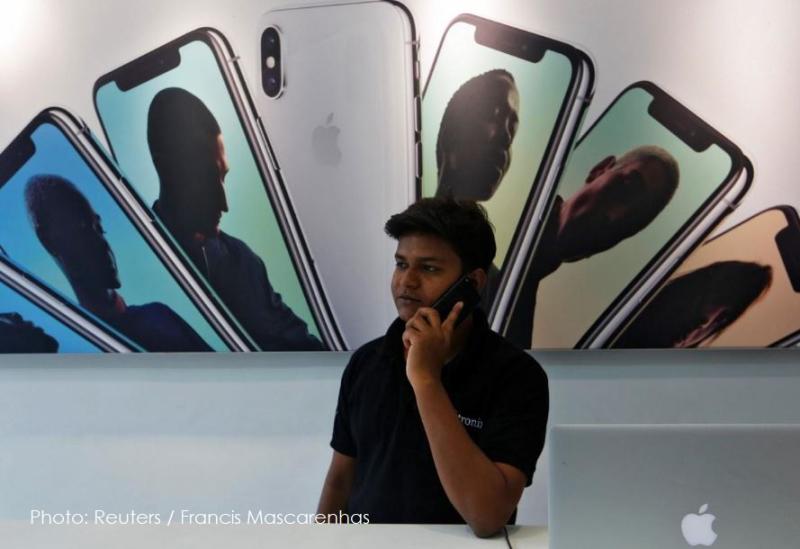 4 iPhones in India  reuters photo