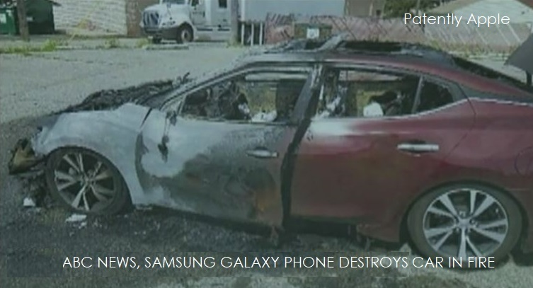 1 X cover samsung phone on fire