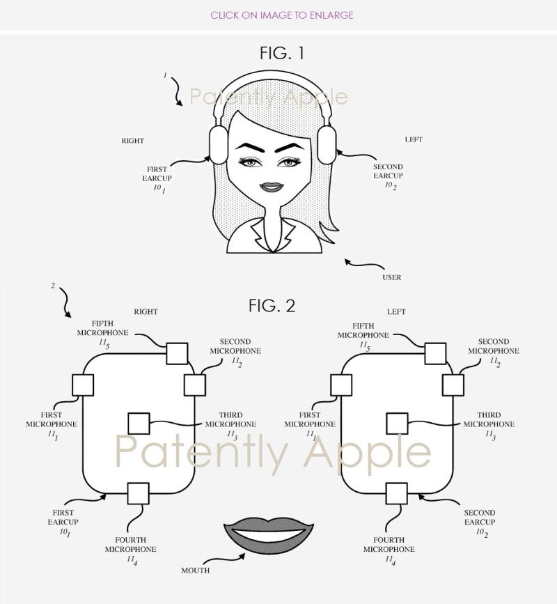 3 apple figs. 1 & 2 headphones patent