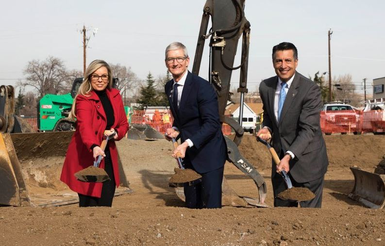 3 Tim Cook Ground breaking in Nevada