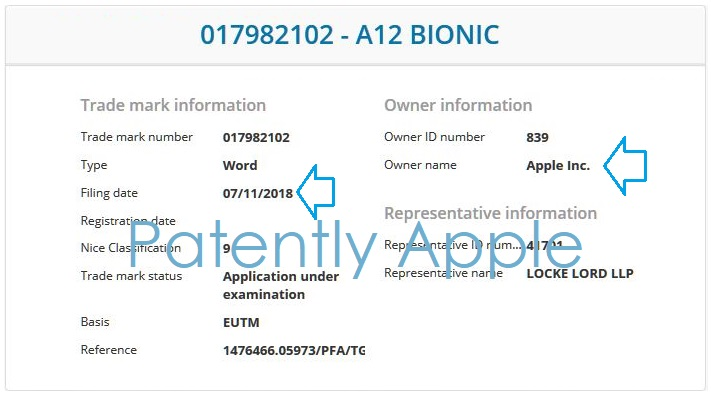 4 X  EU A12 Bionic TM + Hong Kong  Nov 2018  Patently Apple