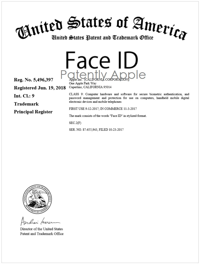 3 FACE ID RTM CERTIFICATE JUNE 19  2018
