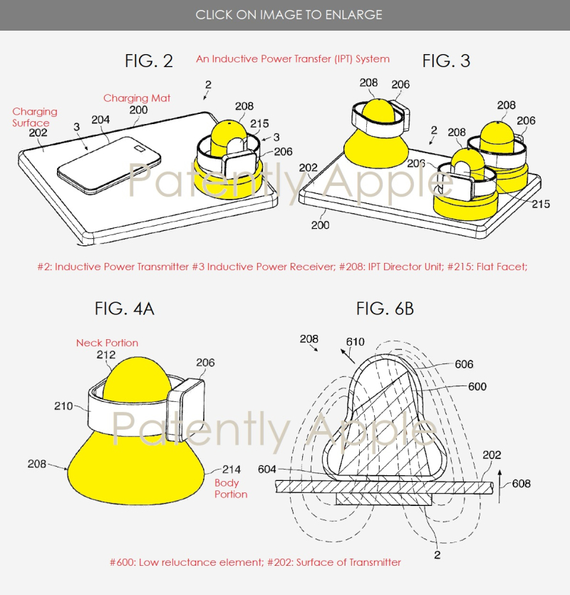 2 X Apple Inductive patent figs 2  3  4A & 6b