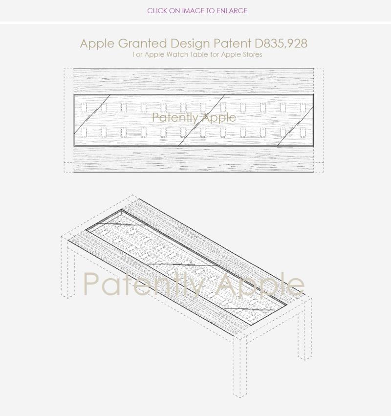 3 Design patent apple  apple watch table dec 18  2018