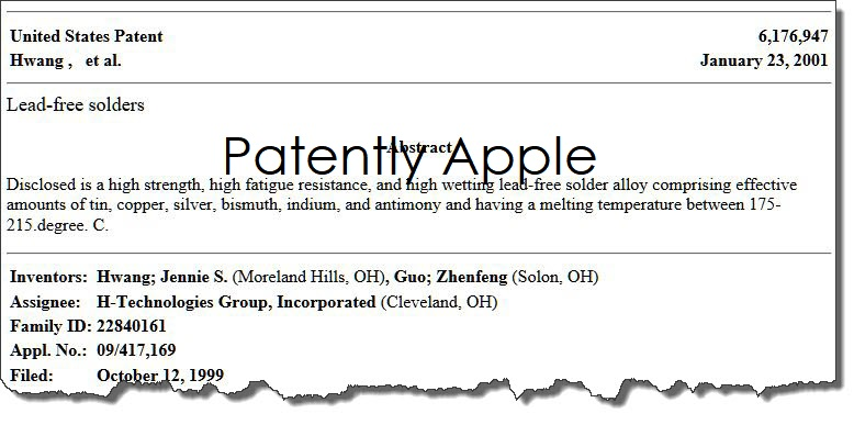 1 X COVER  patent 6 176 947