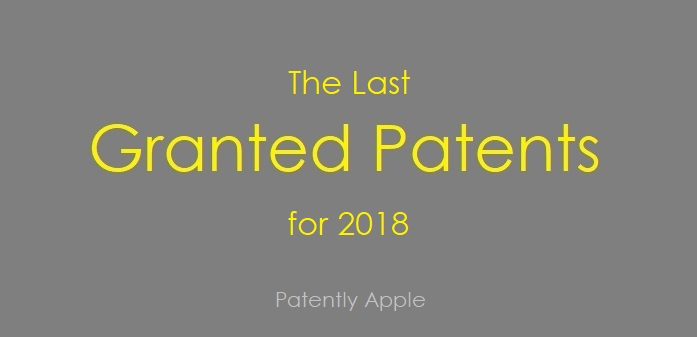 1 cover The Last Granted Patents for 2018 -