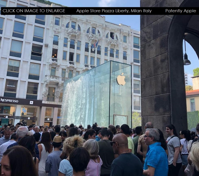 5 XX Apple Store opening in Milan Italy Interior of store