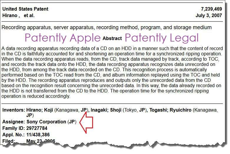 2 X2 Data Scape - uses sony patent to sue apple with