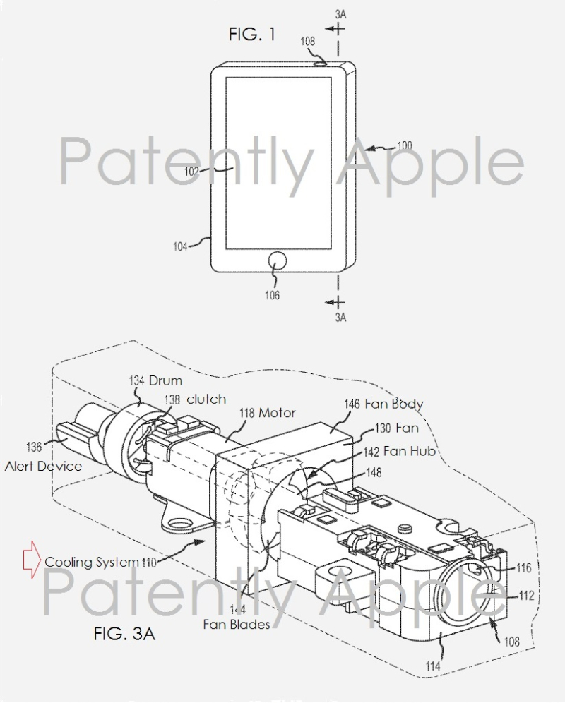 2 X apple patent cooling system