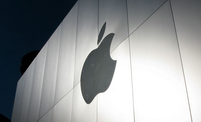 1 X cover Apple logo on Apple Store building